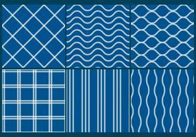 Modèles de filet de pêche bleu vecteur