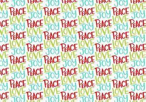 Peace Love Joy Répétition Pattern vecteur