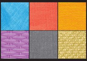 Patrons de tissu grunge vecteur