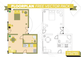 Pack de vecteur gratuit Floorplan