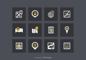 EARMARKED POUR VD icônes de vecteur de navigation gratuit