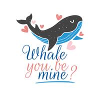 Baleine Tu es la mienne? vecteur