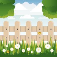 Illustrations de printemps vecteur paysage