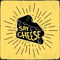 Illustration de fromage Vector dessinés à la main