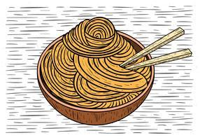 Illustration de nourriture vecteur dessinés à la main
