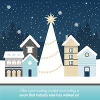 Illustration vectorielle de beau paysage d'hiver