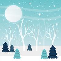Belle illustration vectorielle de paysage d'hiver