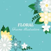 Illustration de fond belle voeux de printemps vecteur