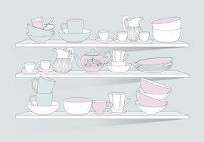 Vecteur de vaisselle