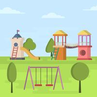 Plat minimaliste Playhouse Vector Illustration