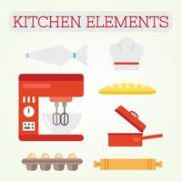 Vecteur d'éléments de cuisine