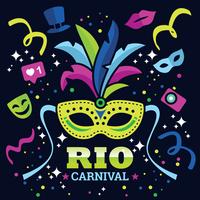 Illustration vectorielle de Rio Carnaval vecteur