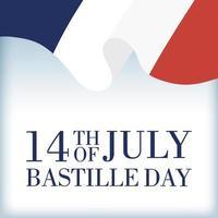 célébration du jour de la bastille avec drapeau français