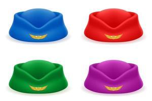 chapeau d'hôtesse de l'air pour la compagnie aérienne de passagers vecteur