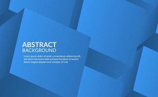 3d abstrait cube bleu fond