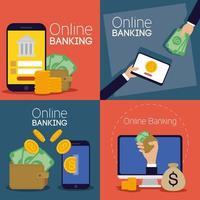technologie bancaire en ligne avec appareils électroniques