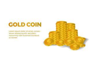 3d argent dollar en or vecteur