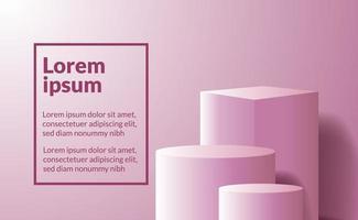 Cube et cylindre 3D pour le placement de produit vecteur