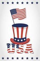 bannière de célébration du jour de l'indépendance des États-Unis