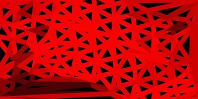 disposition de triangle poly rouge clair. vecteur