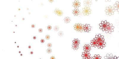 mise en page naturelle rouge avec des fleurs.