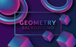 fond géométrique 3d abstrait moderne