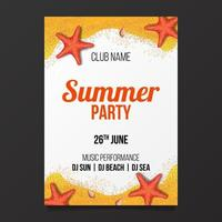 Élément de conception de bannière flyer affiche fête de plage vecteur