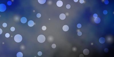 fond bleu, jaune avec des cercles, des étoiles.