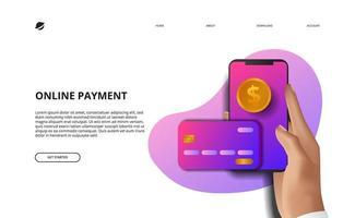 page de destination de paiement en ligne finance d'entreprise commerce électronique