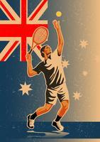 Tennis australien vecteur