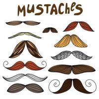 moustaches sur un style plat vecteur