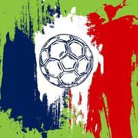 championnat de france de football. vecteur