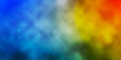 fond bleu clair et jaune avec cumulus. vecteur