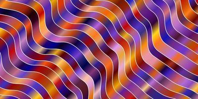 modèle violet clair, jaune avec des lignes courbes.