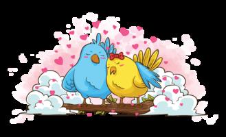 Créatures en amour Illustration vectorielle