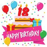 Fond de fête anniversaire 18+ vecteur