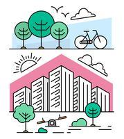 Conception de paysage urbain vecteur