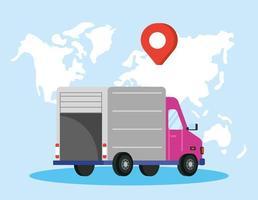 composition du service de livraison avec camion