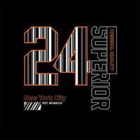 24 Design de t-shirt vintage supérieur de New York City vecteur