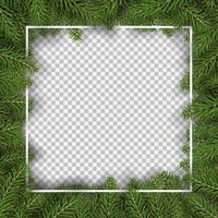 bordure carrée de sapin de Noël