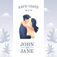 Mariage Save The Date Vector