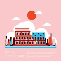 Vecteur de l'amphithéâtre romain