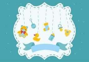 Carte de voeux de douche de bébé vecteur