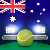 Illustration d'arcade de championnat de tennis australien vecteur