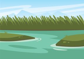 illustration de marais vecteur