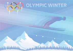 Jeux olympiques d'hiver vecteur