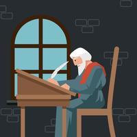 vecteur d'illustration scribe