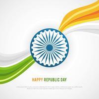 Fond de la journée de la République heureuse