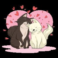 Illustration vectorielle de créatures en amour