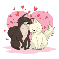 Illustration vectorielle de créatures en amour vecteur